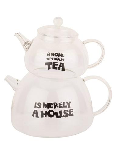 Borosilikat Cam Merely House Çaydanlık Takımı-Tantitoni